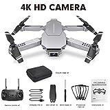 qianqian Drone con Videocamera 4K Ad Alta Definizione, Quadricottero Pieghevole FPV con Telecomando,...