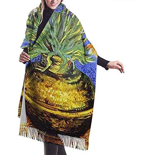 Regan Nehemiah Zonnebloemen bloempot schilderij print kasjmier sjaal dames casual warm sjaal wrap sjaal groot