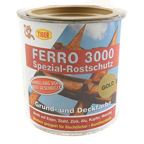 Metallschutzlack Tiger Ferro 3000 gold seidenmatt 0,375l