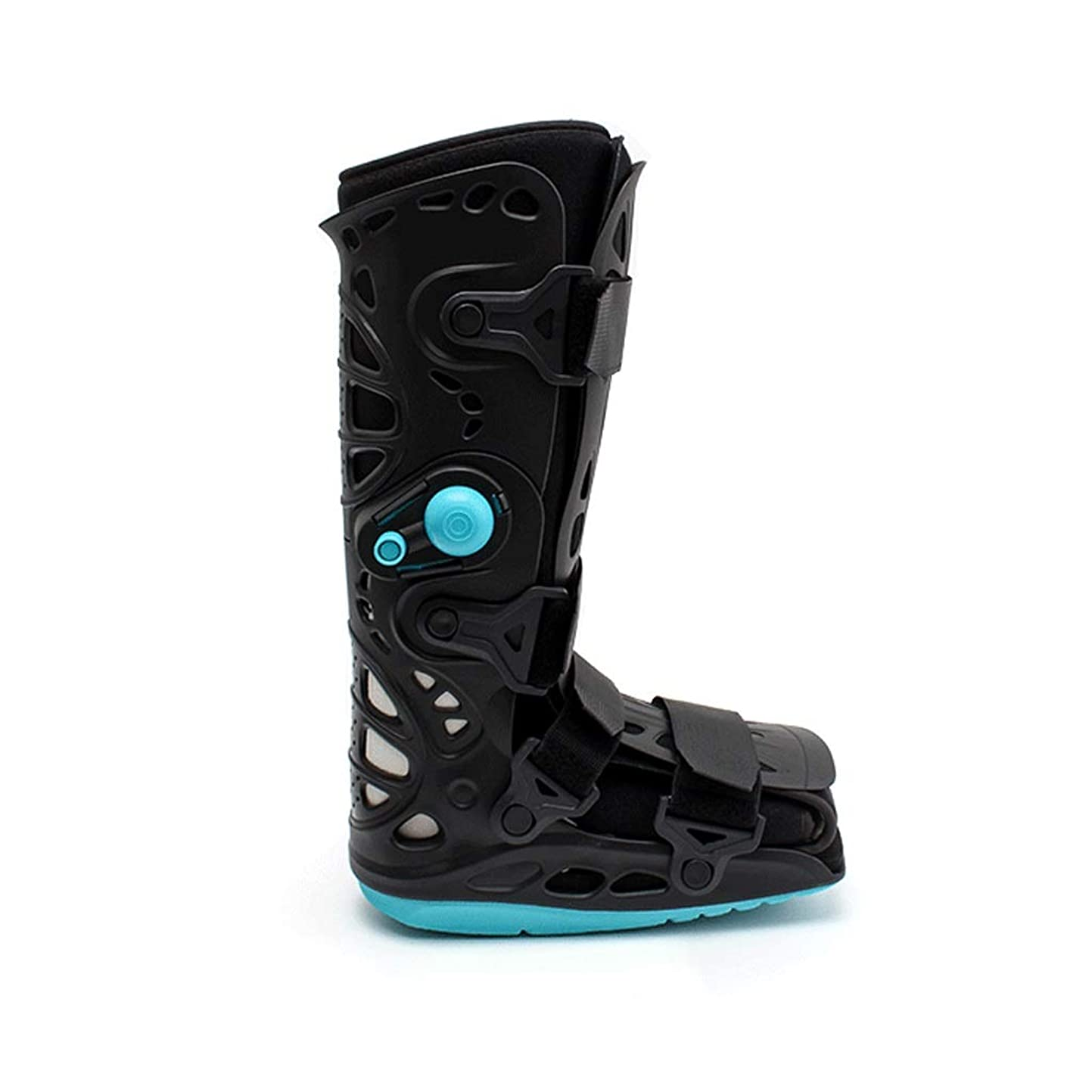 修理工可動式円形の足首足装具、ドロップ足、神経損傷、足の位置、圧力を逃がしのための通気性の破壊ウォーカーブーツ、足首ふくらはぎ破壊リハビリテーション固定されたブラケット、 (Size : M)