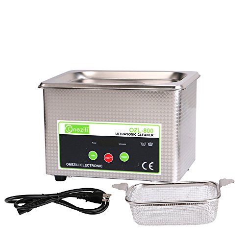 800ml/1.3L/2L Professional Ultrasonic Cleaner, Smart Ultrasonic Jewelry Cleaner with Timer Digital for Cleaning Jewelry,Eyeglasses,Tools,Watches,Dentures,Circuit Board,Guns Parts(0.8L)