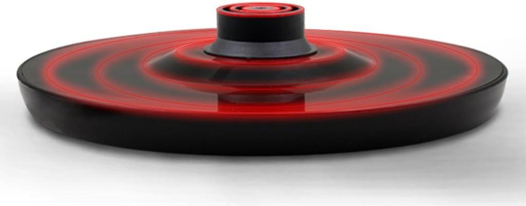 DONGY 1500 W waterkoker automatisch afgesneden, eenknops-verwarmingsschakelaar, 2,0 liter grote capaciteit zwart