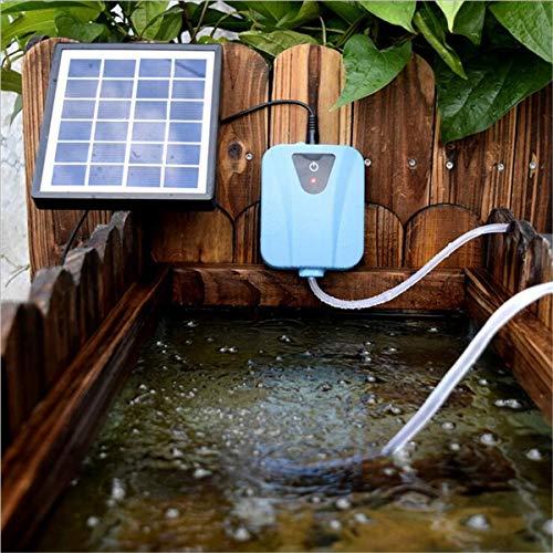 ksjdjok 2L / Min Silent Solarbetriebener Wasser-Oxygenator Mini Aquarium Luftpumpe Pflanze Aquarium Sauerstoff-Luftkompressor Belüfter Luftstrom
