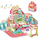 iPlay, iLearn Kids Dollhouse Playset, Girls Pretend Play Doll House...
