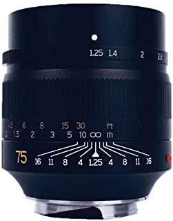 7artisans Photoelectric 75mm f/1.25 Lens for Leica M Mount - Black