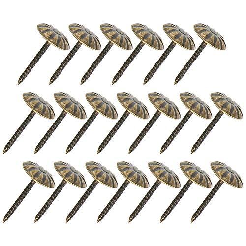 MroMax Polsternägel, 1,1 cm Kopfdurchmesser, antike runde Daumennadeln, bronzefarben, für Möbel, Sofa, Kopfteile, 40 Stück