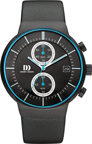 Danish Design Herren Analog Quarz Uhr mit Leder Armband DZ120501