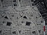 alles-meine.de GmbH 1 m * 1,4 m Stoff - Zeitung Newspaper -