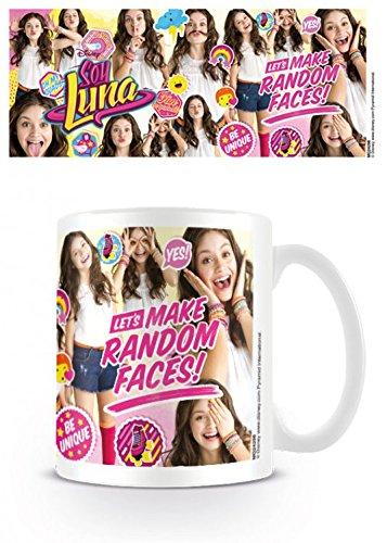 1art1 Set: Soy Luna, Let's Make Random Faces Taza Foto (9x8 cm) Y 1x Pegatina...