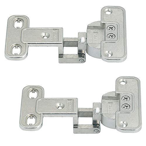 Gedotec Schank-Scharnier Aximat 200A 2D Türscharnier Möbelscharnier zum Schrauben | Öffnungswinkel 230° | Bohrbild 52/5,5 mm | MADE IN GERMANY | 2 Stück - Weitwinkelscharnier für Möbel-Türen