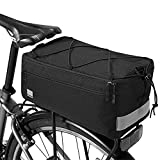 Lixa-da Fahrradtasche Isolierte Kofferraumkühlertasche, 8L Fahrrad-hintere Sitztasche mit reflektierender, Gepäckträger-Pannier-Tasche, 36 * 15 * 8 cm (Black)