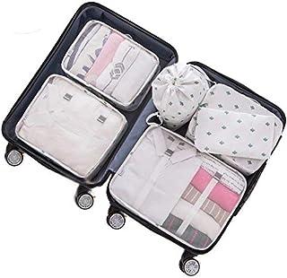 Adwaita 6 Set Packing Cubes, Travel Luggage Packing Organizers (Cactus)