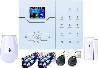 Home security system, GSM alarm system, wireless burglar alarm, fire and smoke detector alarm, door/window sensor, siren S...