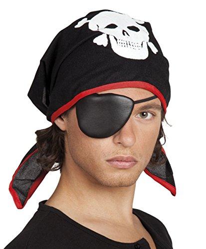 Boland 74195 Kopftuch Thomas mit Augenklappe, Jungen, Schwarz, One Size