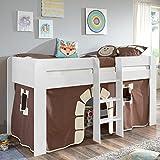 Relita Spielbett ANDI Liegefläche 90 x 200 cm Dekor weiß Halbhohes Bett, Spanplatte, 215 x 98 x 113 cm