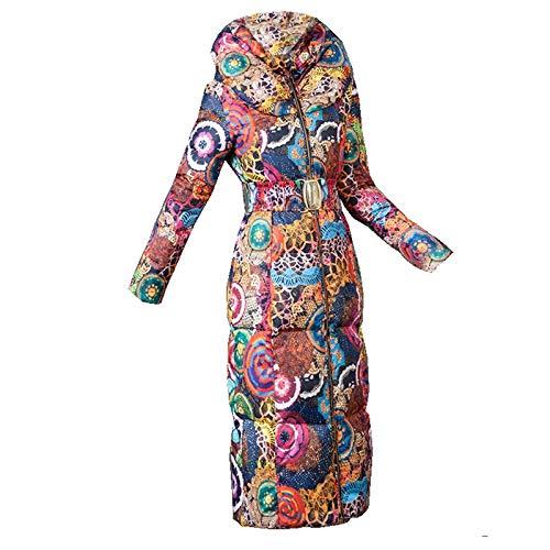 JNXFUZMG 2020 Time-Limited Cremallera Completa Broadcloth Lámina Slim Ucrania Abrigo Chaqueta para Mujer Nueva impresión fue algodón Acolchado Espeso Rompevientos Chaquetas Parkas Outwear