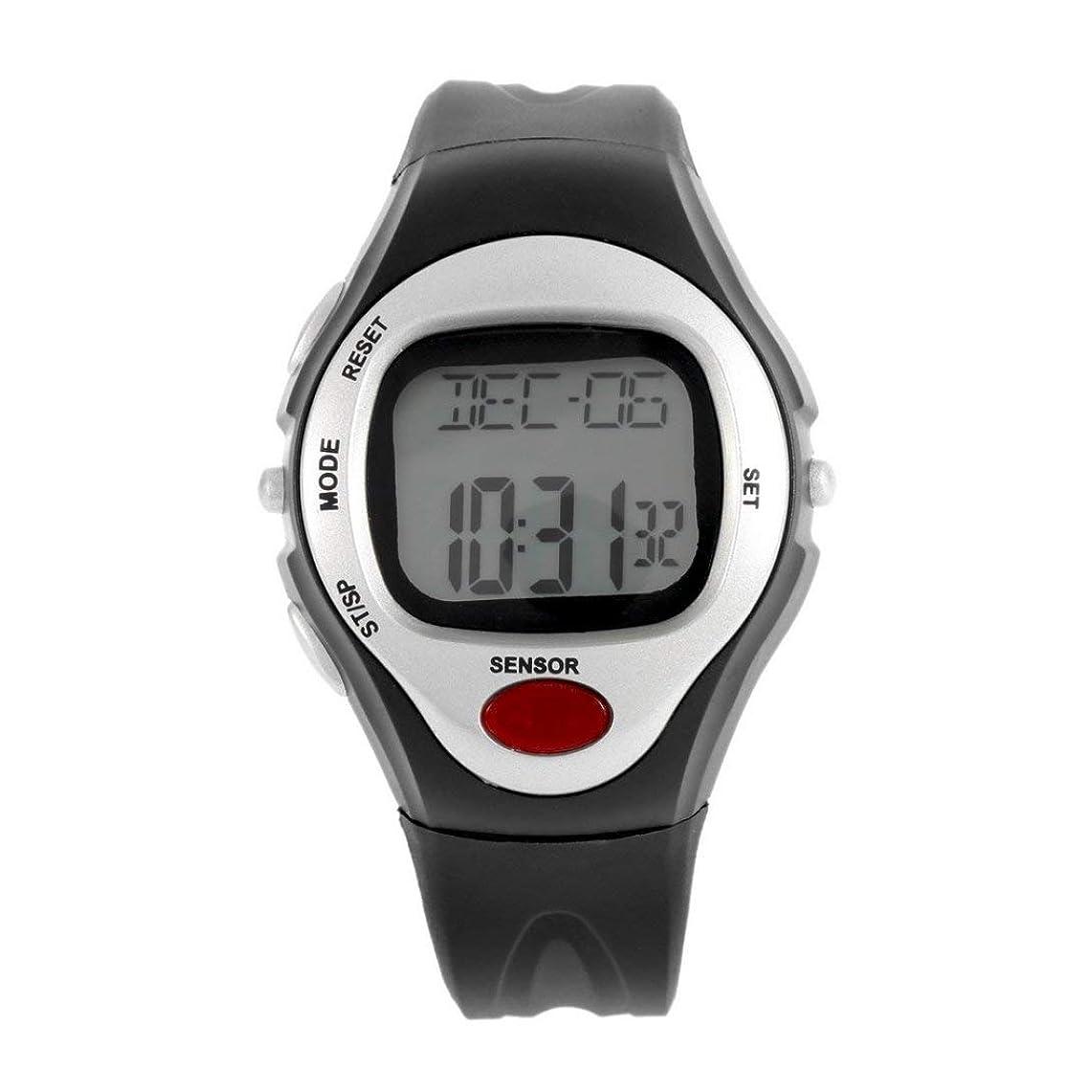 インタフェース不良品外出Swiftgood 心拍数モニター、歩数計の腕時計、フィットネスウォッチデジタル腕時計付きフィットネストラッカー