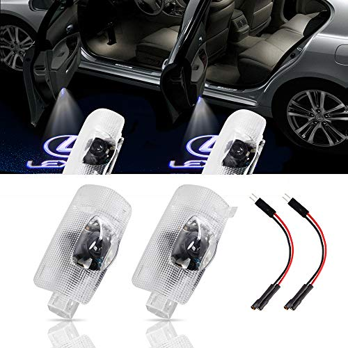 URSTOUD LED Car Door Logo Light Courtesy Projector Laser Welcome Lights 3D Ghost Shadow Light Lamps Accessories The Replacement for Lexus RX/ES/GX/LS/LX/IS/GS/RC/UX Series(2 Pack)