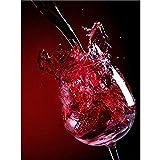 Pintura de Diamante 5D Copa de Vino Lienzo preimpreso Artesanía decoración del hogar 50x60cm