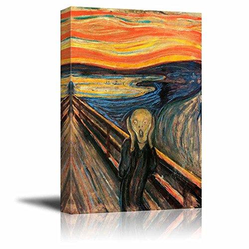 wall26 - The Scream by Edvard Munch - Canvas Art Wall Art - 18' x 12'