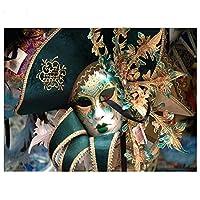 宗教パズル5000ピース女性の顔の肖像画木製パズル
