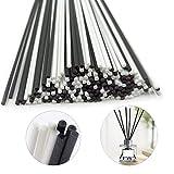 N / A - 200 bastoncini per diffusore di oli essenziali per diffusore di aromi, per casa, ufficio, SPA e camera da letto (100 bianchi + 100 neri)