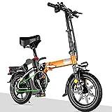 0℃ Outdoor Bicicleta Eléctrica 240W Fat Bike 14 Pulgadas Fat Bike Bicicleta Electrica Plegable Batería de Litio Bicicleta Electrica Montaña Nieve Hombres Mujeres Adultos,Deluxe Edition,48v 20a
