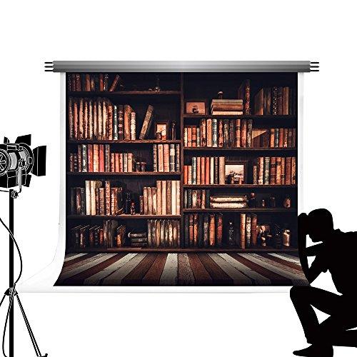 Kate Background Studio fotografico Bambini Cartone animato Sfondo Oggetti di scena Stand 7x5ft/2,2x1,5 m Marrone Retrò Magia Scaffale per libri Scatola foto Sfondo Matrimonio