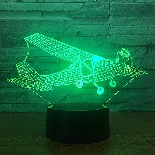 Visual Home Decoration Nachtlampje, 7 kleurveranderingen, van de vaste vleugels, modelatie van vliegtuig, led-tafellamp, creatieve cadeaus