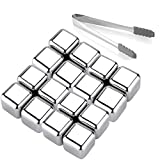 Whiskey Stones 16 Pack,Reusable Ice Cubes, High Cooling Technology,Stainless Steel Ice Cubes, For Whiskey, Vodka, Liqueurs, Wine,Beverage Juice or Soda, Pack of 16