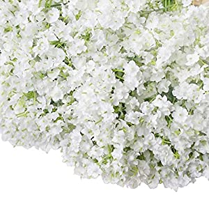Bringsine Premium Artificial Flowers, Silk Home Decorations Bridal Wedding Bouquet, for Birthday Bunch Hotel Party Garden Floral Decor