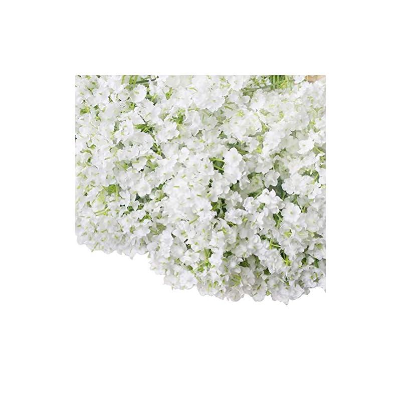 silk flower arrangements bringsine baby breath/gypsophila wedding decoration white colour real touch artificial flowers 30 pieces/lot