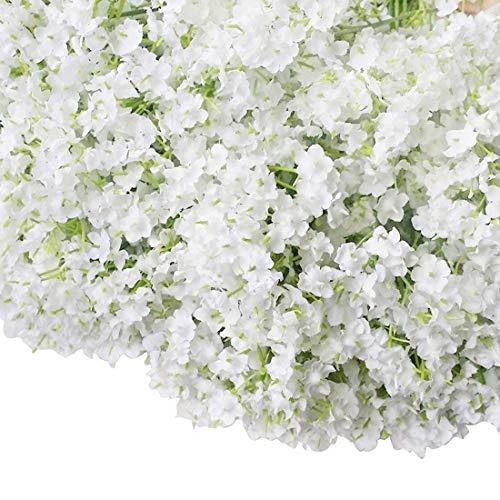 Bringsine Baby Breath Gypsophila Wedding Decoration White Colour Silk Artificial 60 Pieces/lot
