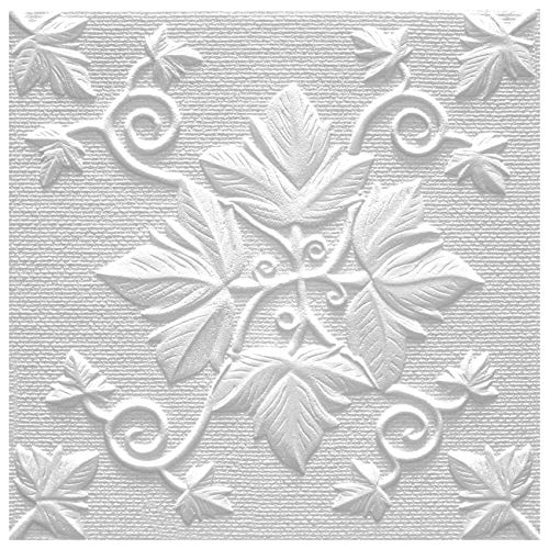 Deckenplatten aus Styropor EPS - Deckenpaneele leicht & robust im modernen Design - (10QM Sparpaket GRONO 50x50cm) Deckenplatte Feuchtraum Decke Dekor
