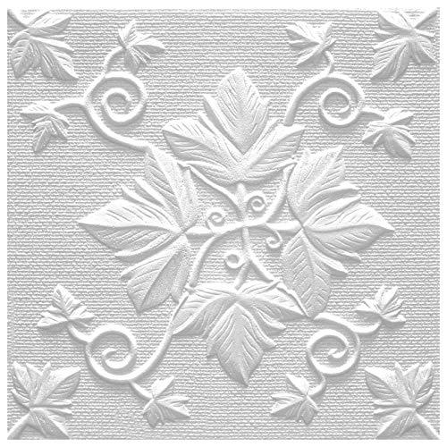 Marbet Design Placas de techo de poliestireno expandido, indeformables, 50 x 50 cm (18 m²)