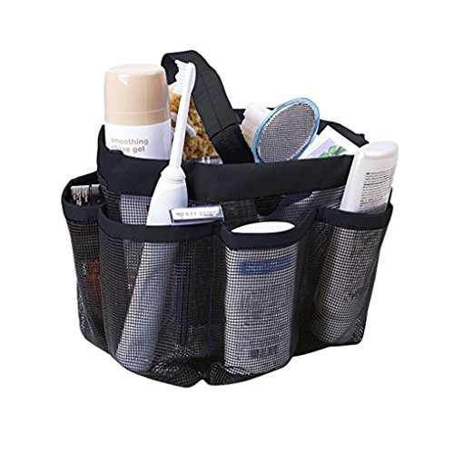 top 10 mens shower caddy Quick Dry Mesh Shower Trolley Hanging Large Shower Bag Toiletries Organizer Makeup Rice Stick…
