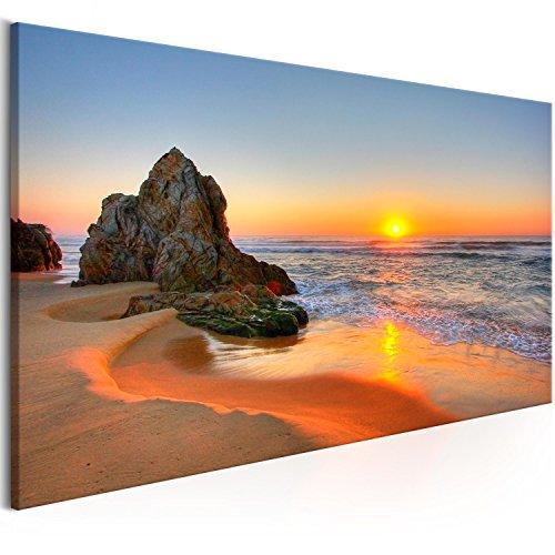 murando Cuadro en Lienzo Playa 150x50 cm 1 Parte Impresión en Material Tejido no Tejido Impresión Artística Imagen Gráfica Decoracion de Pared Paisaje c-B-0334-b-a