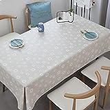 Mantel De Mesa De Café De PVC Desechable De Estilo Nórdico Impermeable Anti Escaldado Y A Prueba De Aceite Mantel Rectangular Adecuado para Mesa De Comedor