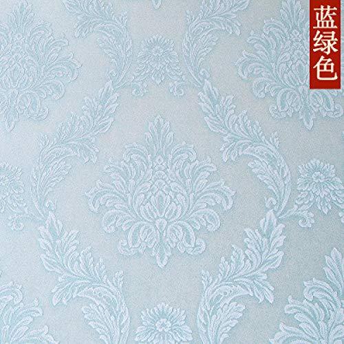 ACCEY Jane European Damascus Wallpaper Warme Vlies Wohnzimmer Schlafzimmer 3D Nachttisch TV Hintergrund Wall Wallpaper A1347