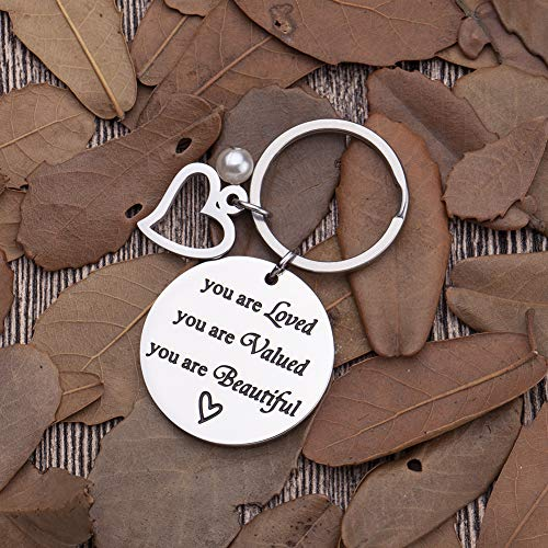 Inspirational Gifts Encouragement Keychain for Her Teens Teenage Girls Sister in Law Young Women Friends Birthday Valentine Day Gifts for Daughter Niece Key Chain Dog Tag for Her Presents