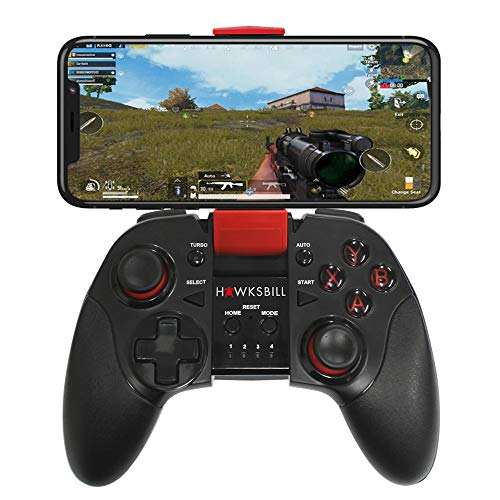 Hawksbill Wireless Gamepad Controller for iOS iPhone & Android - Bluetooth with L3 + R3 Buttons,...