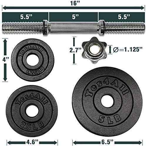 Product Image 2: Yes4All Adjustable Dumbbells – 52.5 lb Dumbbell Weights (Single)