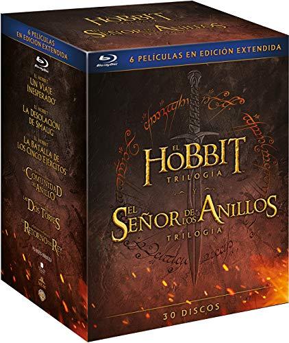 El Hobbit Trilogía - El Señor de los Anillos Trilogía [30 discos] [Blu-ray]