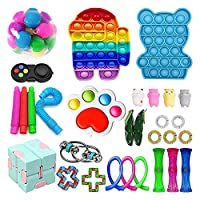 安くキッズ&大人のための不安のおもちゃの設定、不安の指のおもちゃのおもちゃ箱、ストレスリリーフの手おもちゃ不安ツールストッキング詰め物、自閉症ストレスの不安(30pcsc)のための官能療法の玩具 (Color : 30pcsk)