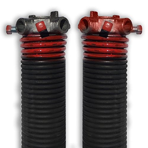 "DURA-LIFT .225 x 2"" x 29"" Torsion Garage Springs (Red, Left & Right Wound)"