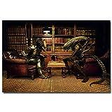 PQGHJ Rompecabezas Alien Vs Predator, clásico Rompecabezas de Madera de película de 1000 Piezas, Muy desafiantes Rompecabezas Casuales para Adultos y Adolescentes