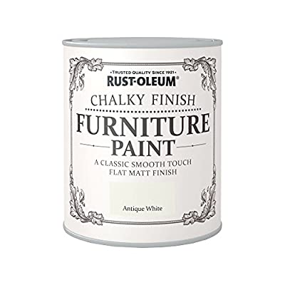 Rust-Oleum Chalky Finish Furniture Paint - Antique White - 750ml 750ML Antique White