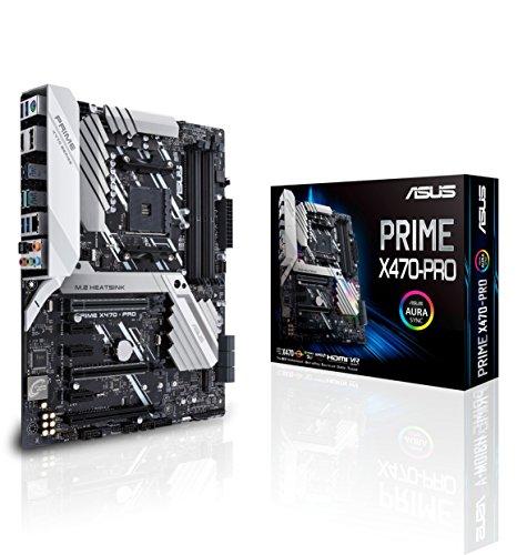 ASUS Prime X470-Pro AMD Ryzen 2 AM4 DDR4 DP HDMI M.2 USB 3.1 ATX Motherboard (Renewed)
