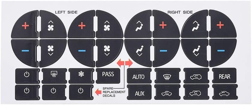 AC Control /& Radio Button Sticker Repair Kit Fix Ruined Faded A//C Controls Aumo-mate AC Dash Button Replacement Decal Stickers for Select GM Vehicles