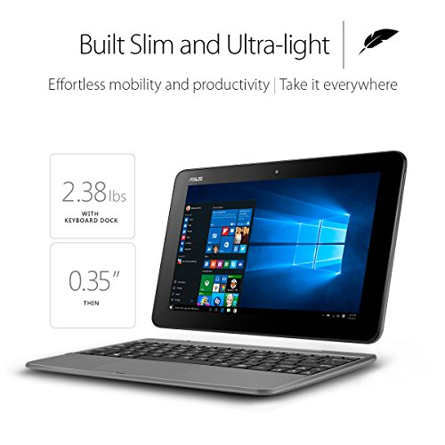 Product Image 2: ASUS Transformer Book T101HA-C4-GR 10.1-Inch 2-in-1 Ultraportable Laptop with Intel Core X5 1.44 GHz 4GB 64GB HD Windows 10 Touchscreen, Gray